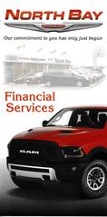 North Bay Chrysler Financial Services Pocket Folder Front