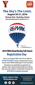 YMCA Road Hockey Flyer Back