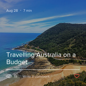 Travelling Australia on a budget blog post