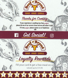 Beef n' Brand Loyalty Cards