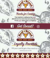 Beef n' Brand Loyalty Cards