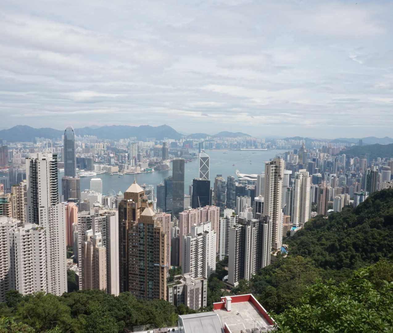 View from Victoria Peak overlooking Hong Kong, Causeway Bay, Kowloon