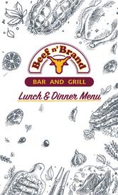 Beef n' Brand Lunch Menu Front