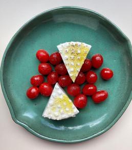 Queijo branco com tomates frescos