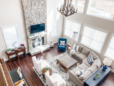 Decorating tips for that two-story family room....