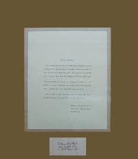 Dedicated Poem with Signature