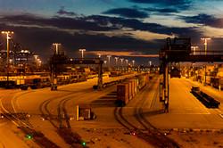 LA Harbor Freight Yard, Sunset