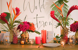 Jungle Themed Wedding Breakfast Table