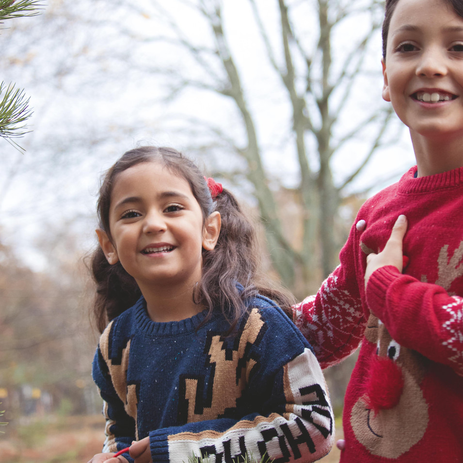 Family Portraits at Christmas Time in Surrey