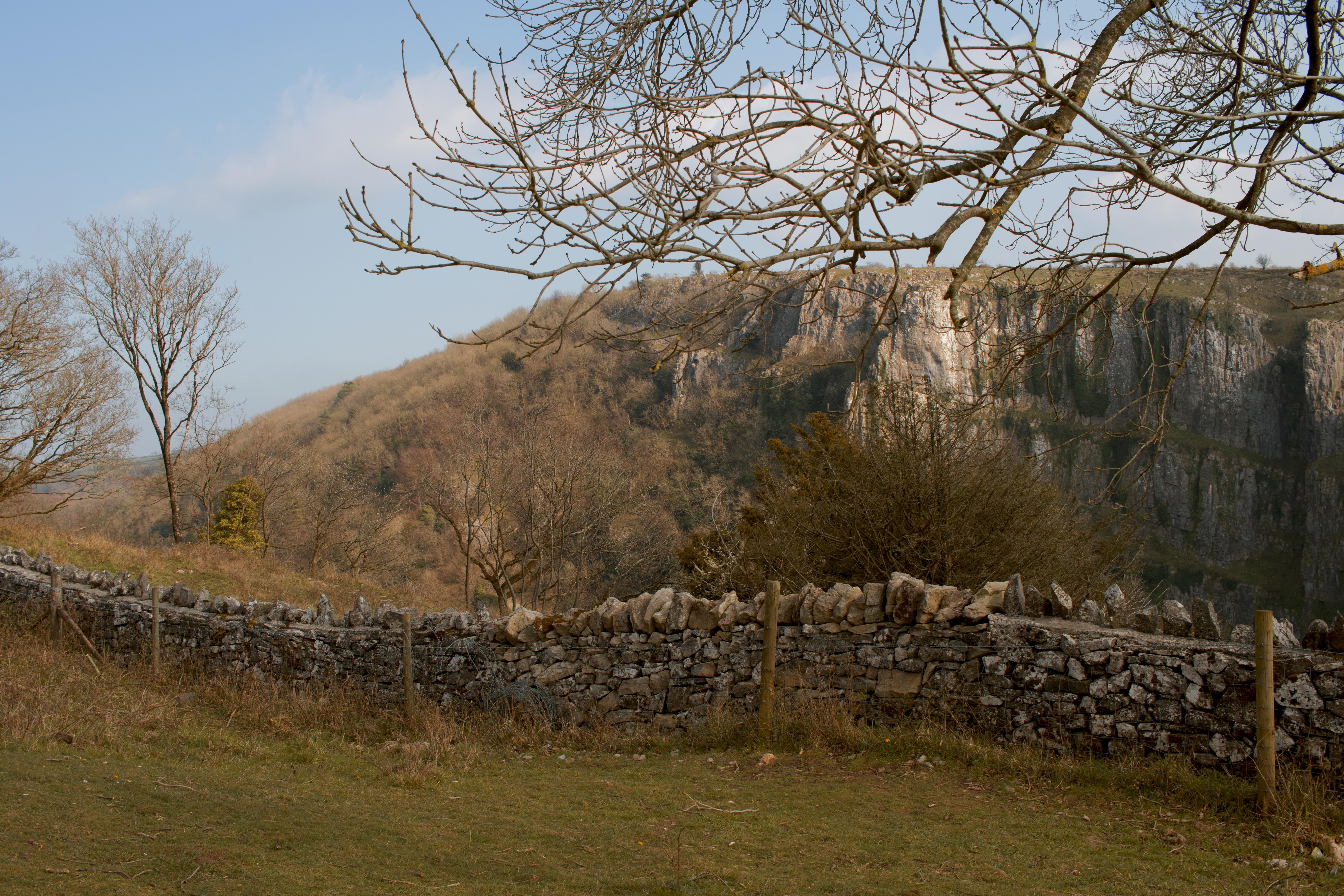 Chedder Gorge Views in January
