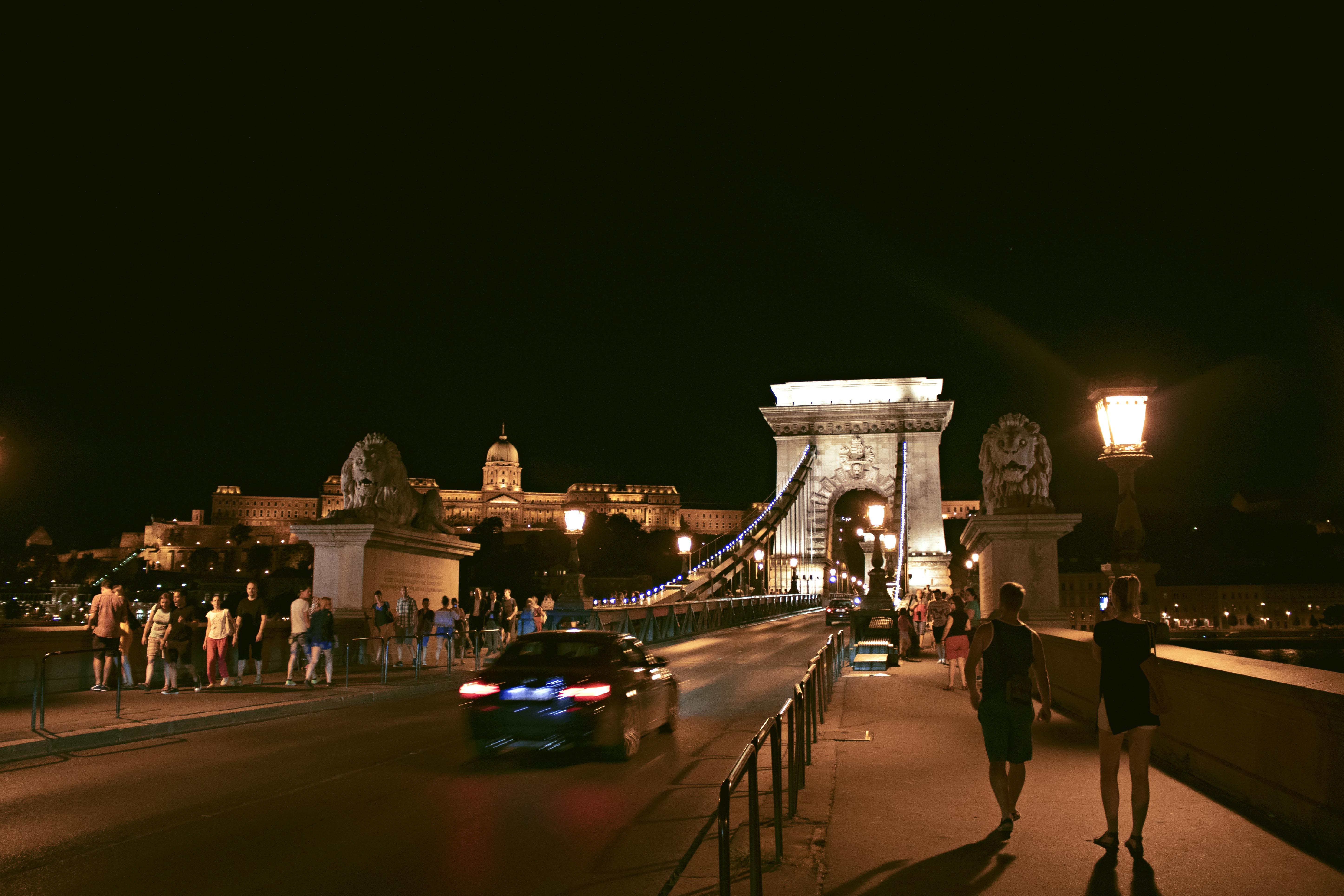 Chain Bridge, Budapest, at Night