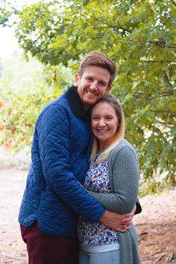 Relaxed Couple Portraits at Horsell Common