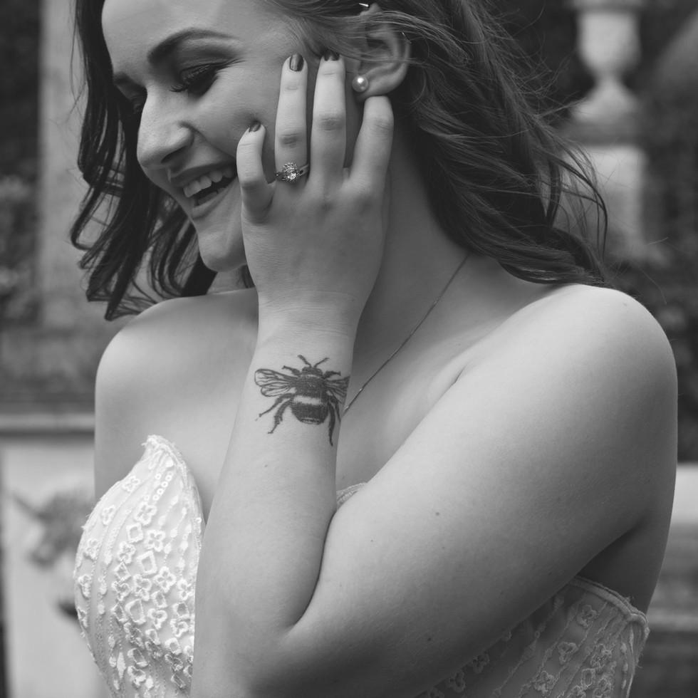 Stunning Black & White Bridal Portraits