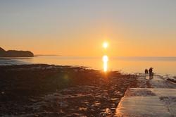 Sunsetting seascape