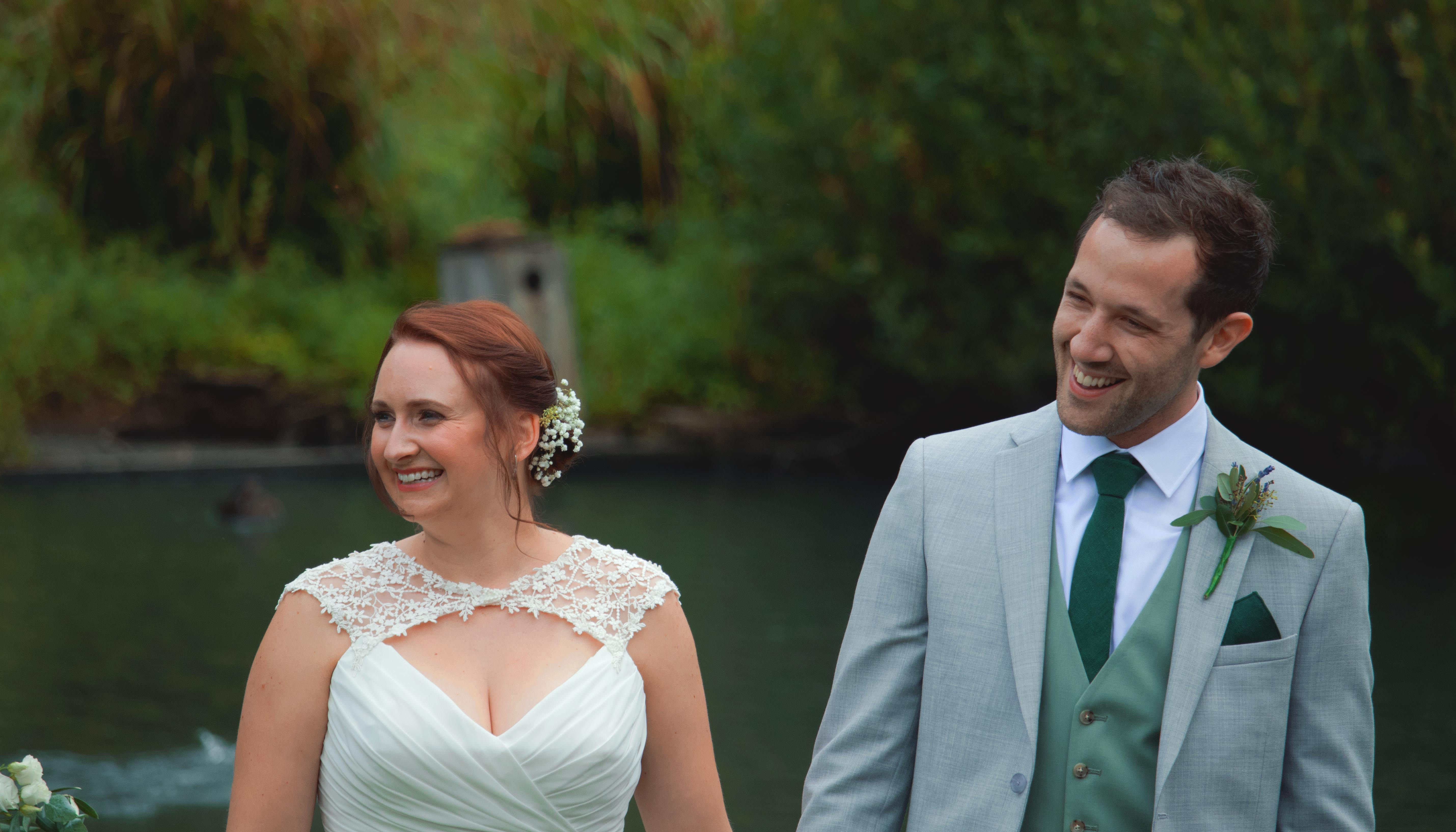 Candid Outdoor Wedding Ceremony