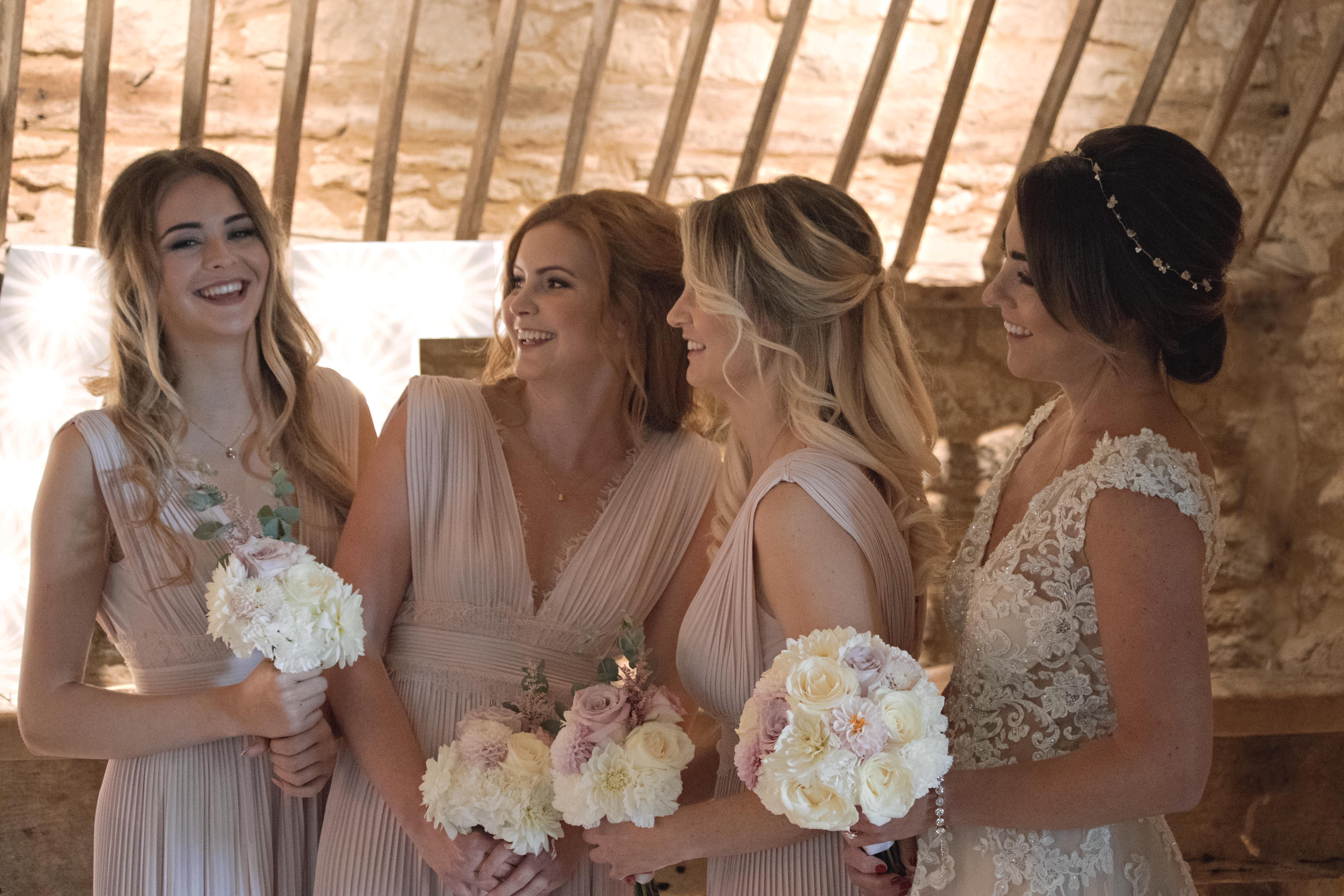 Candid Shots of Bride and Bridesmaids