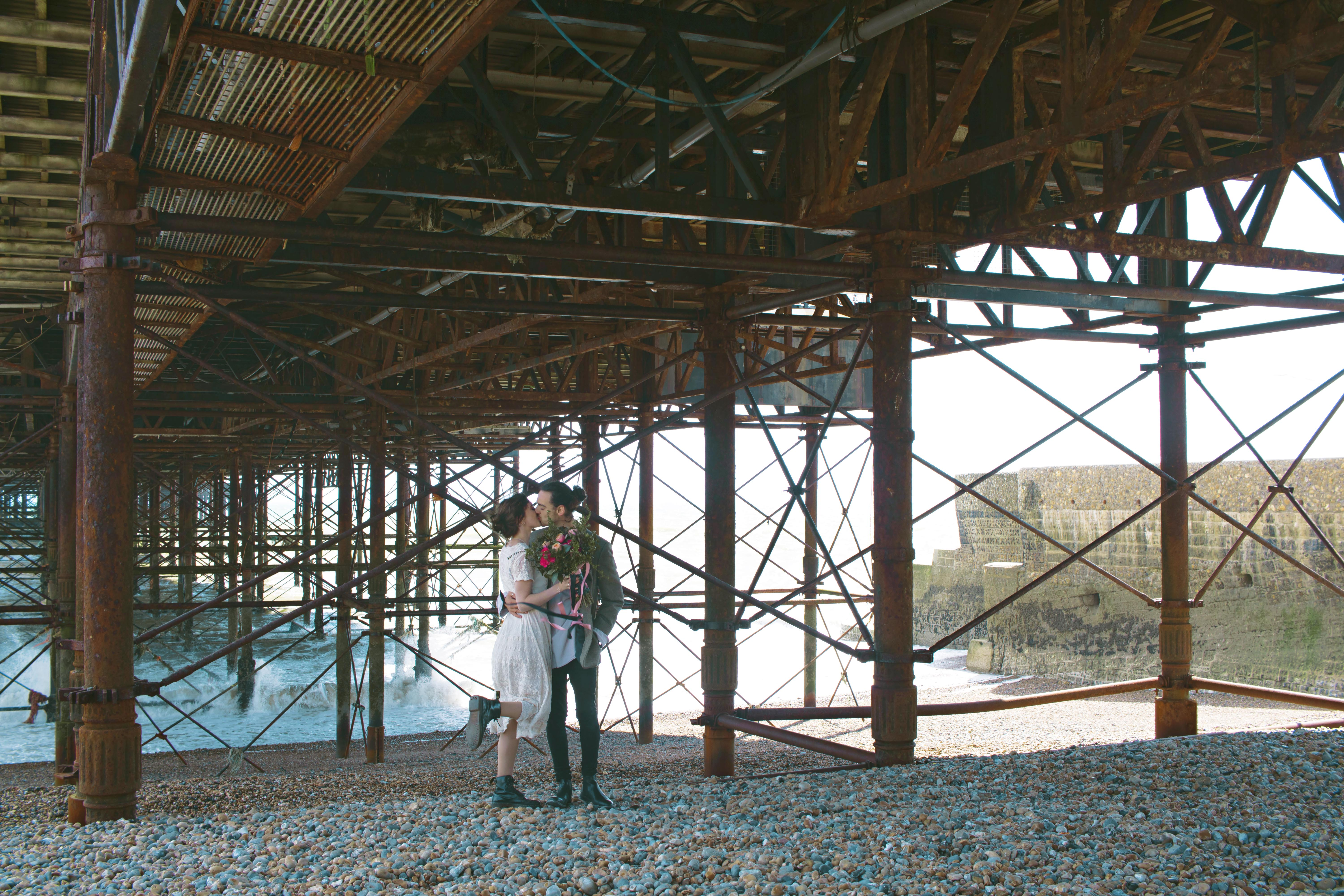 Couple Portraits under Brighton Pier