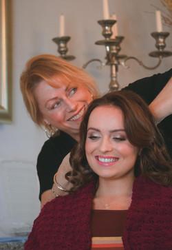 Bridal Hair & Make-up Winter Wedding at Walton Castle