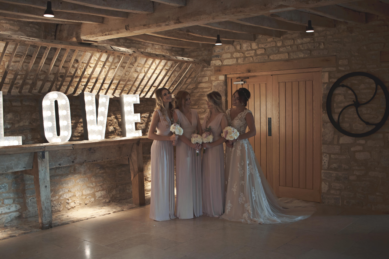 Indoor Shots of Bride and Bridesmaids