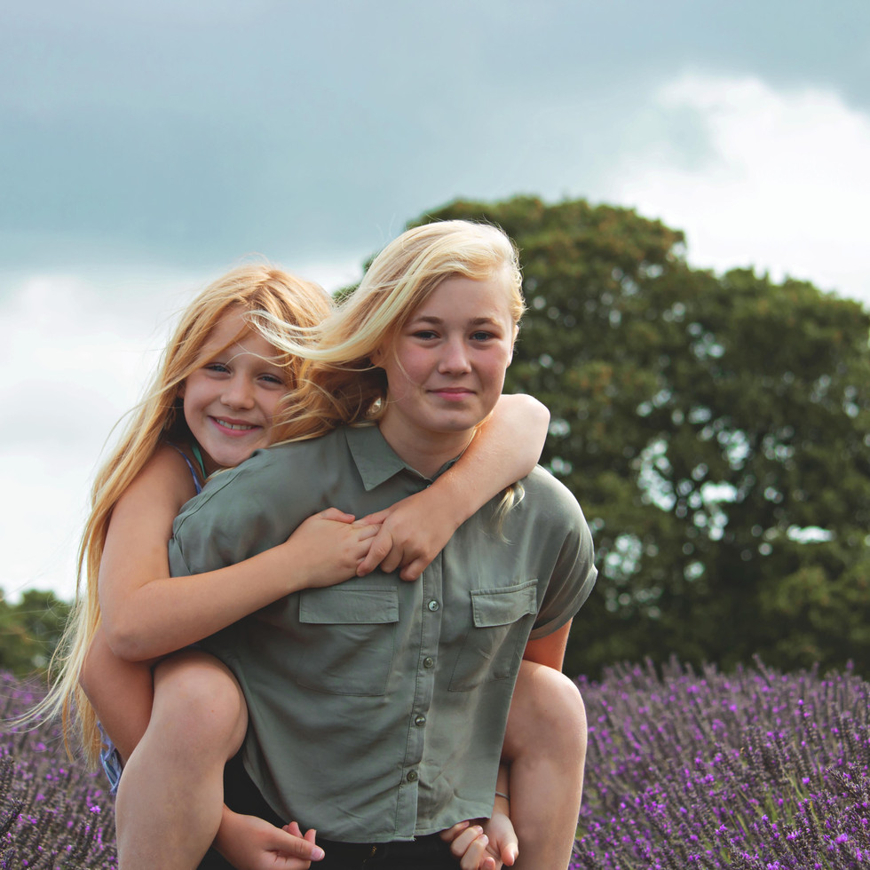 Family Photography at the Lavender Fields in Summer