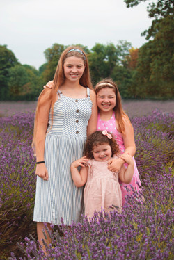 Relaxed Family Photoshoot at Mayfield Lavender