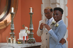 Grooms & Their Tuscan Themed Wedding Cake at Euridge Manor