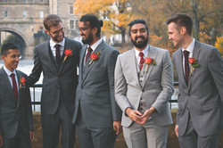 Groomsmen Shots in Bath Winter Wedding