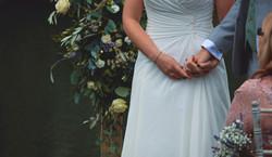 Candid Outdoor Wedding Ceremony in Surrey