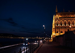 Hungerian Parliament Buildings at Night