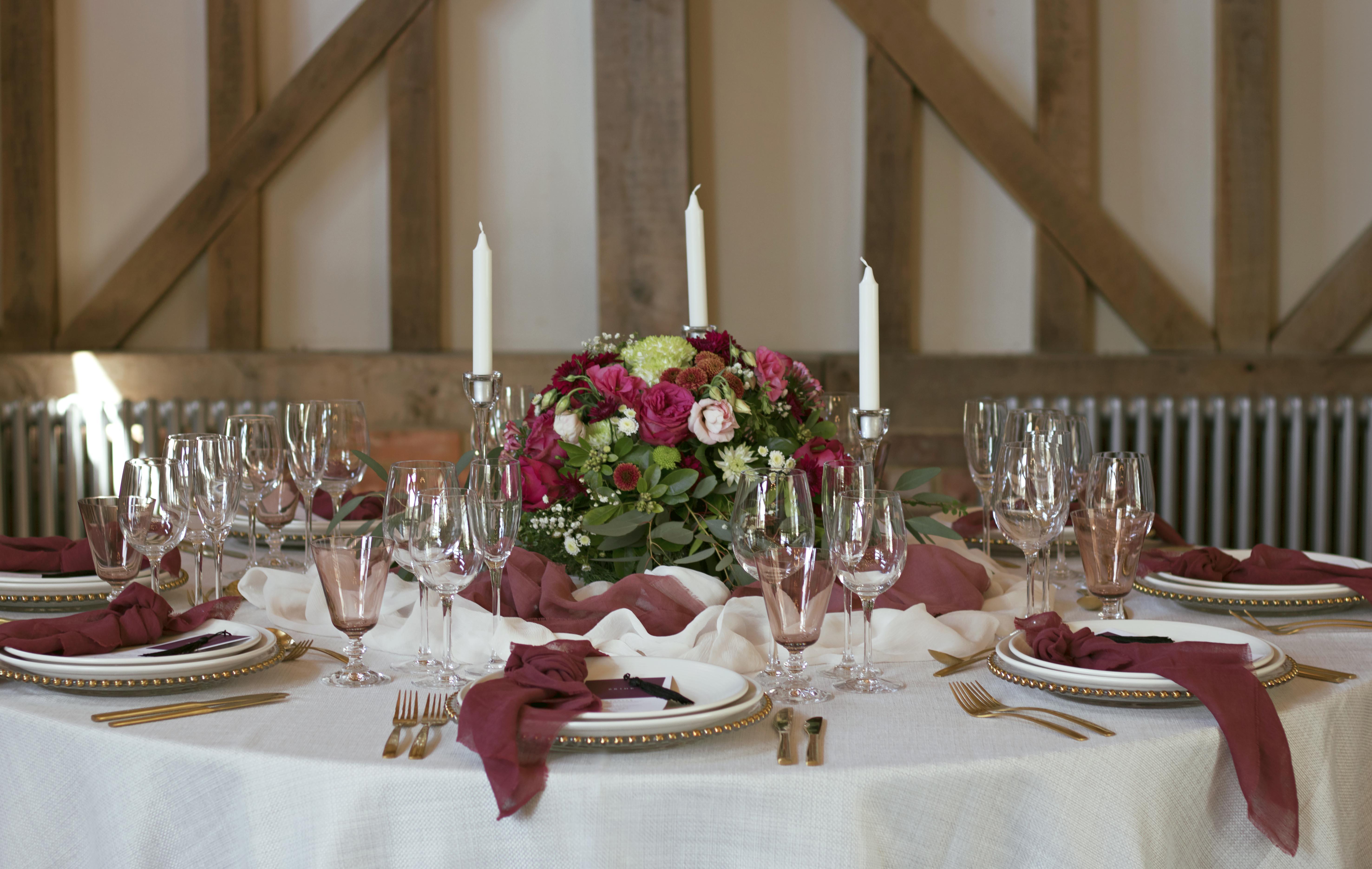 Gate Street Barn Wedding Table