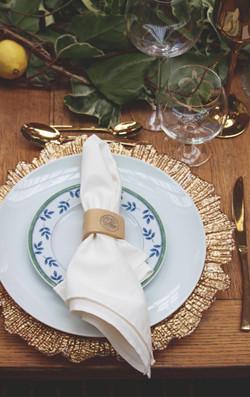 Tuscan Themed Wedding Table at Euridge Manor