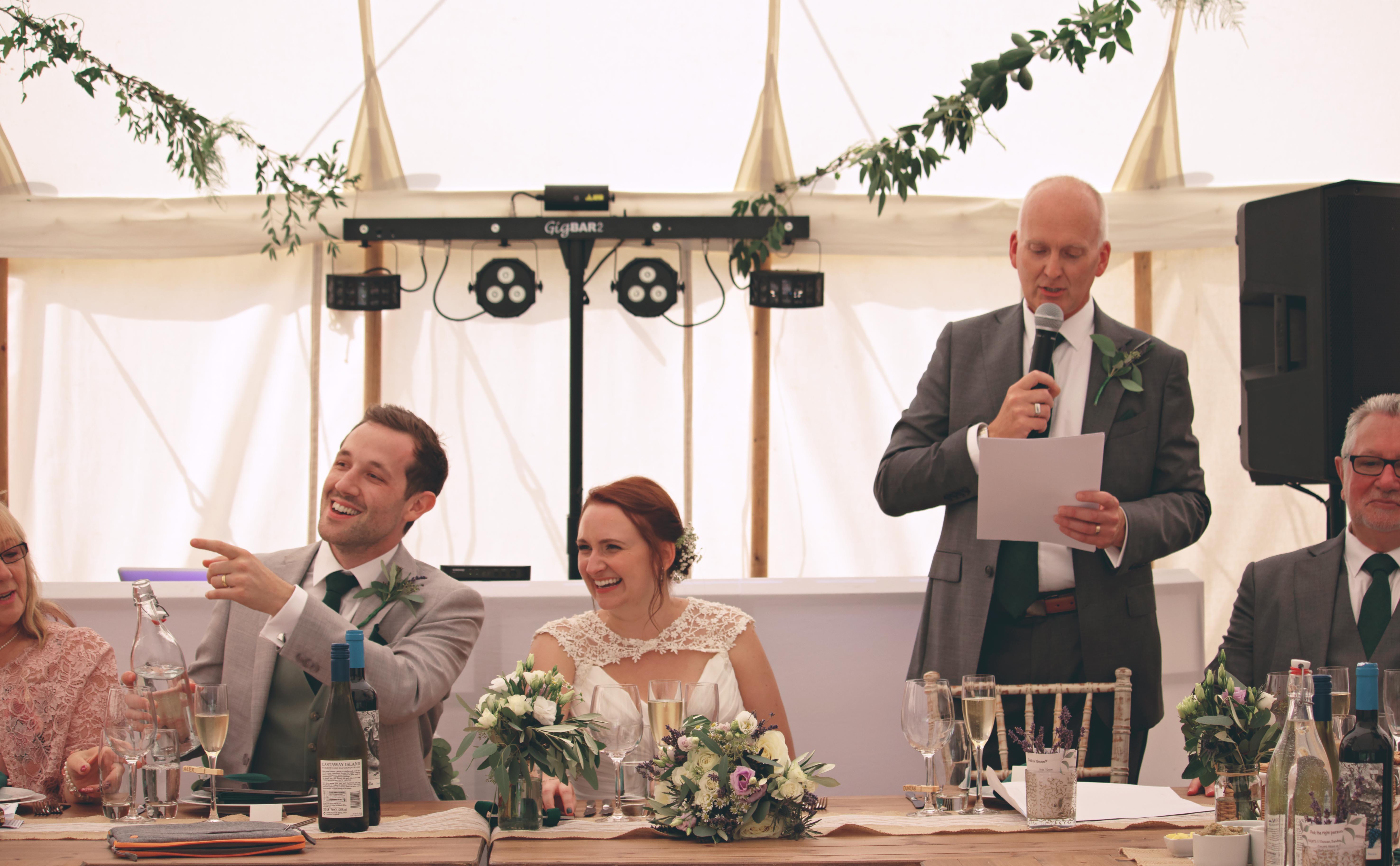 Candid Wedding Speech Laughter Shots