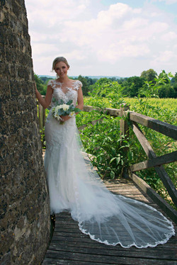 Wide Angle Bridal Portrait in Summer