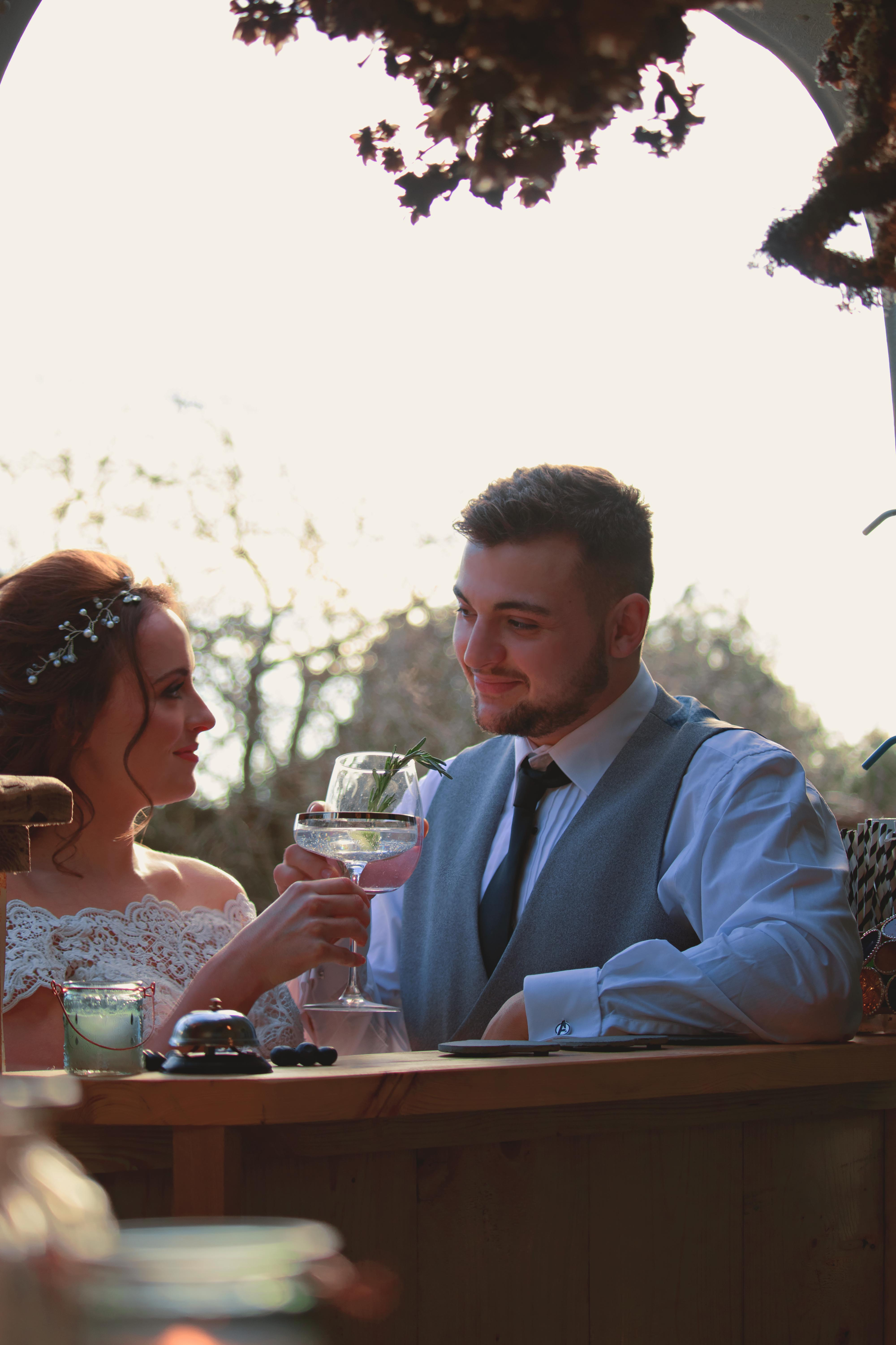 Toast to the Newly Weds at Walton Castle