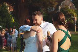 Wedding Guests Embracing