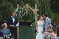 Relaxed Outdoor Wedding Ceremony