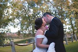 Relaxed Woodland Wedding Couple Portraits