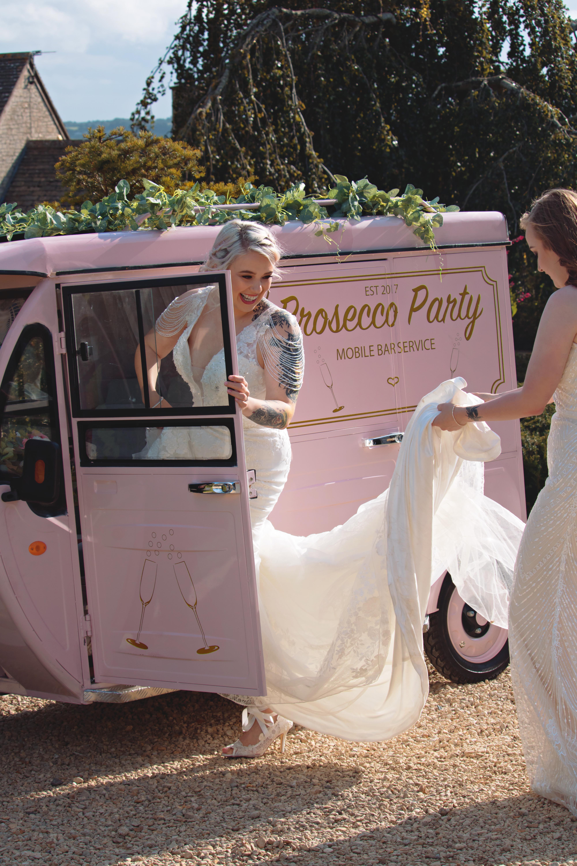 Same Sex Wedding Prosecco Tuk-Tuk