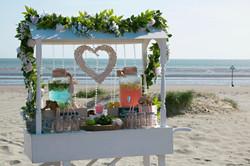 Summer Beach Wedding Drinks Cart