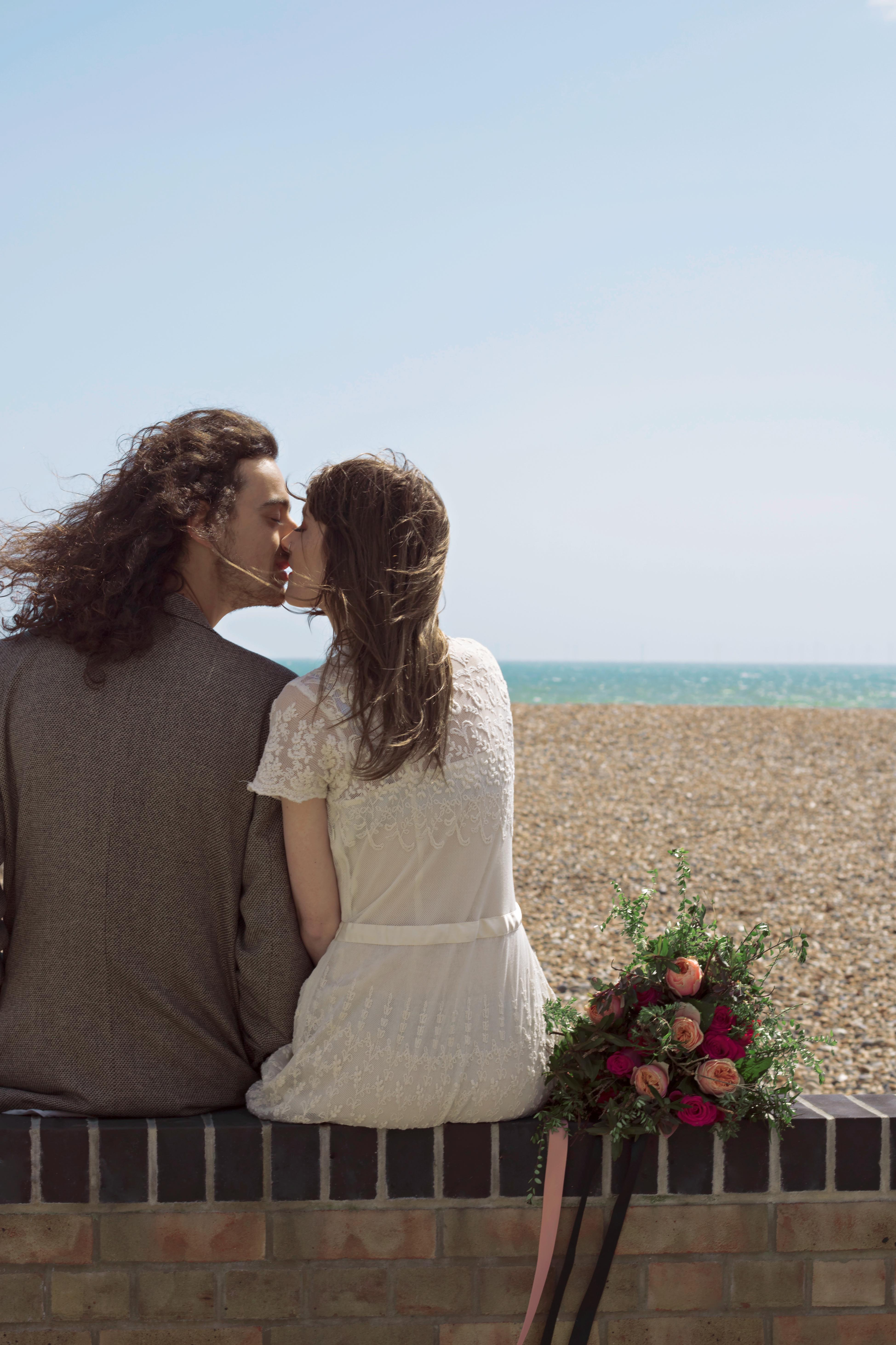 Romantic Seaside Couple Portraits