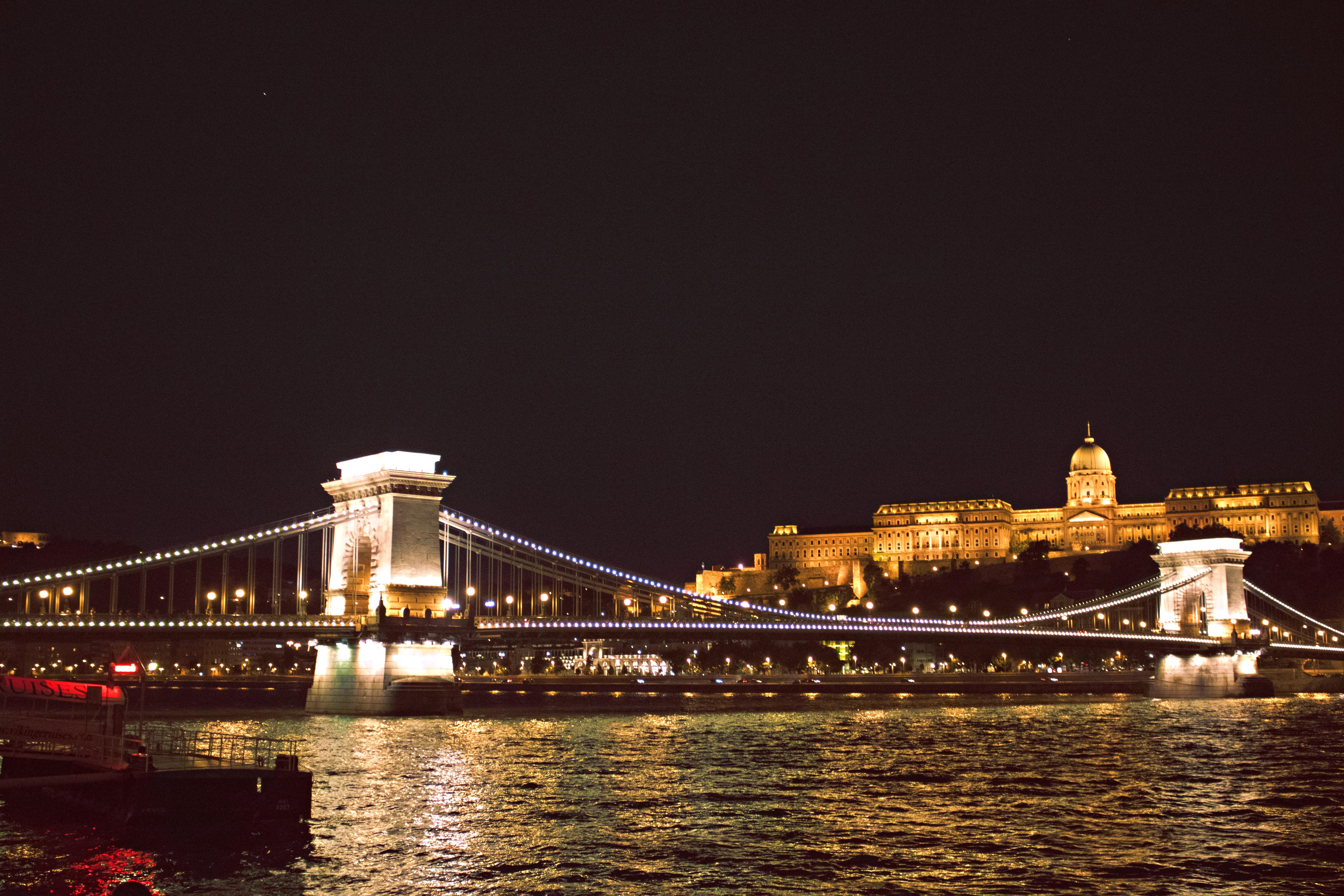 Budapest River at Night