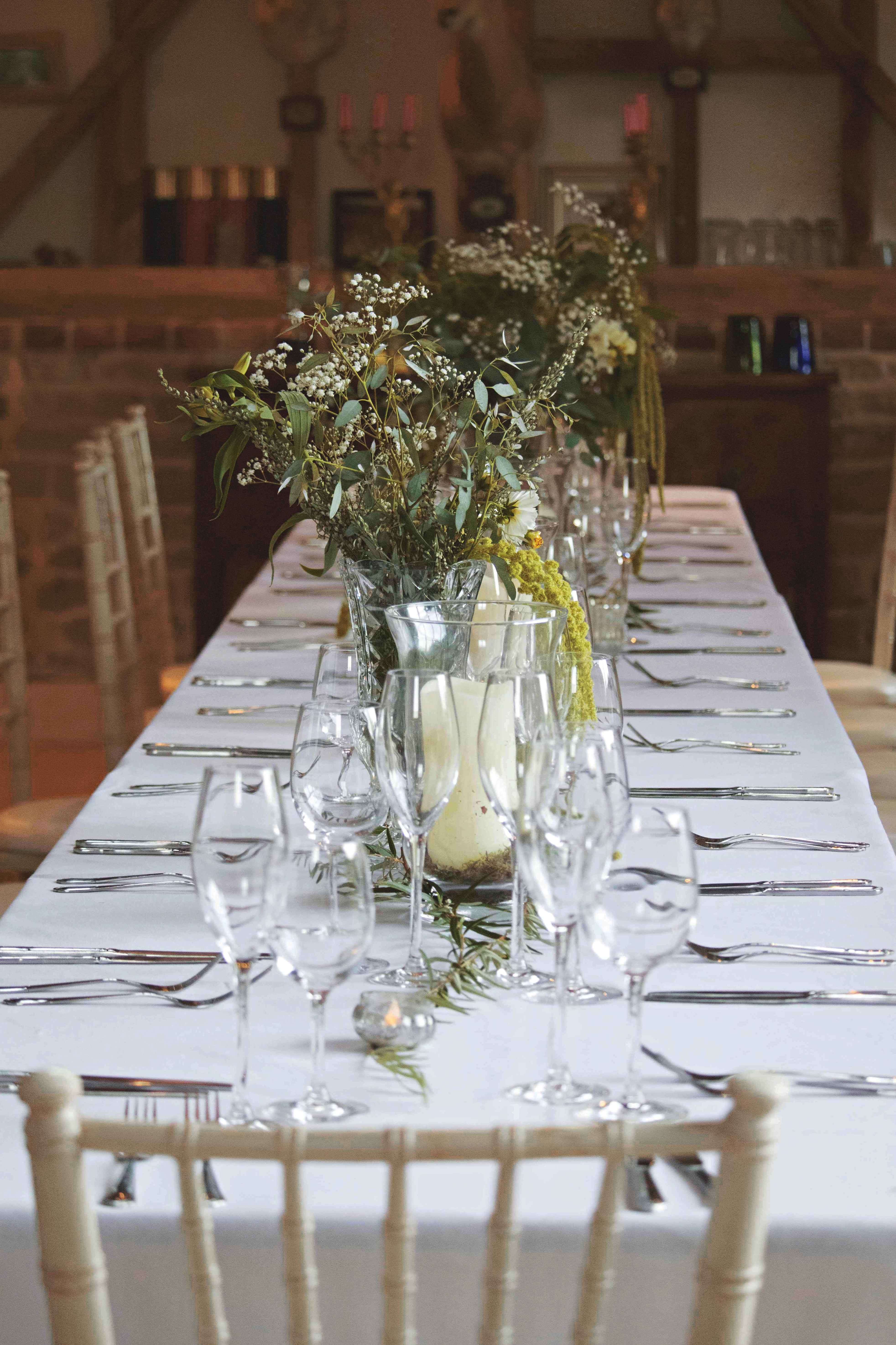 Indoor Dining English Countryhouse Wedding Venue