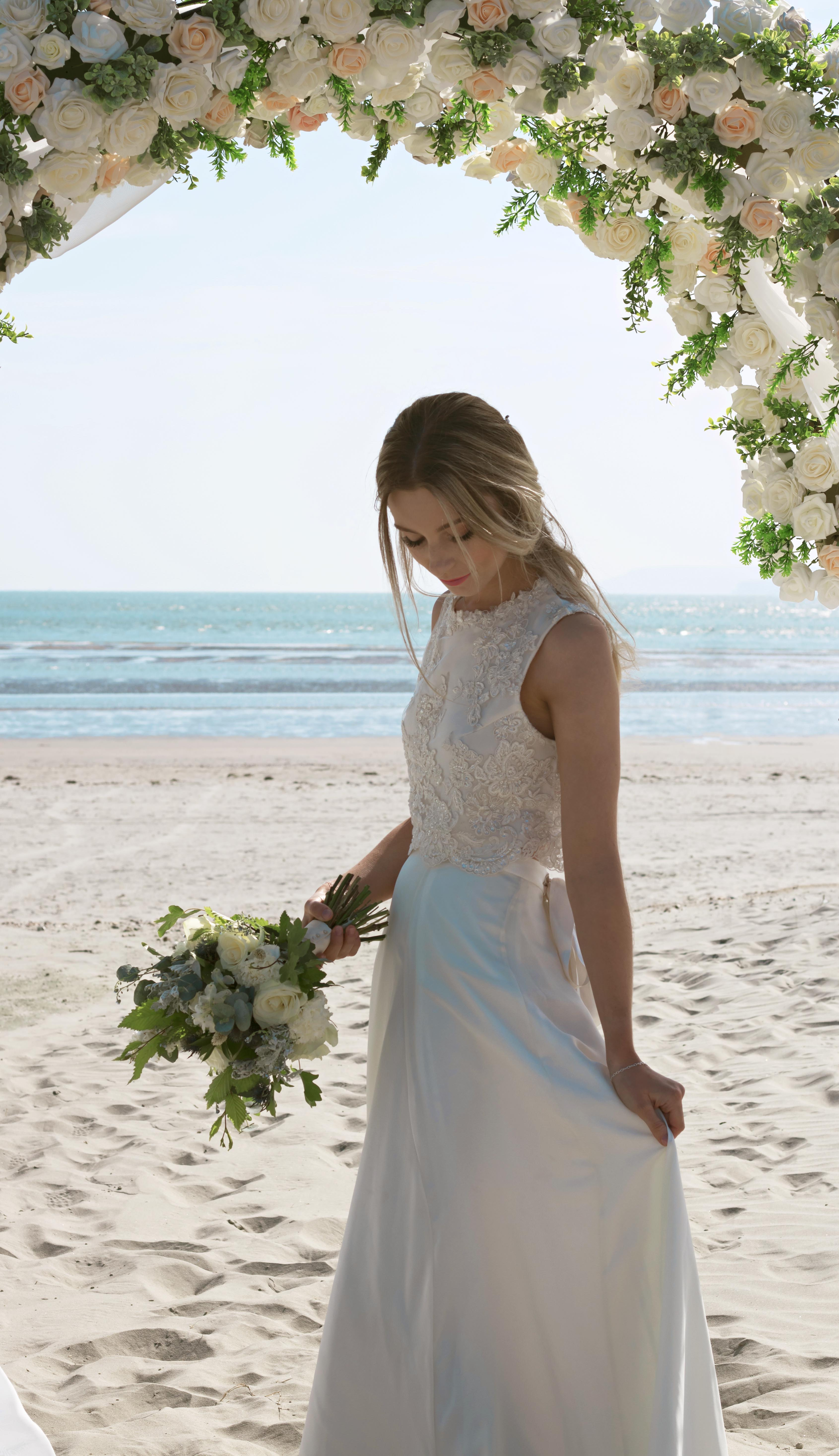 Beach Bride Relaxed Portraits