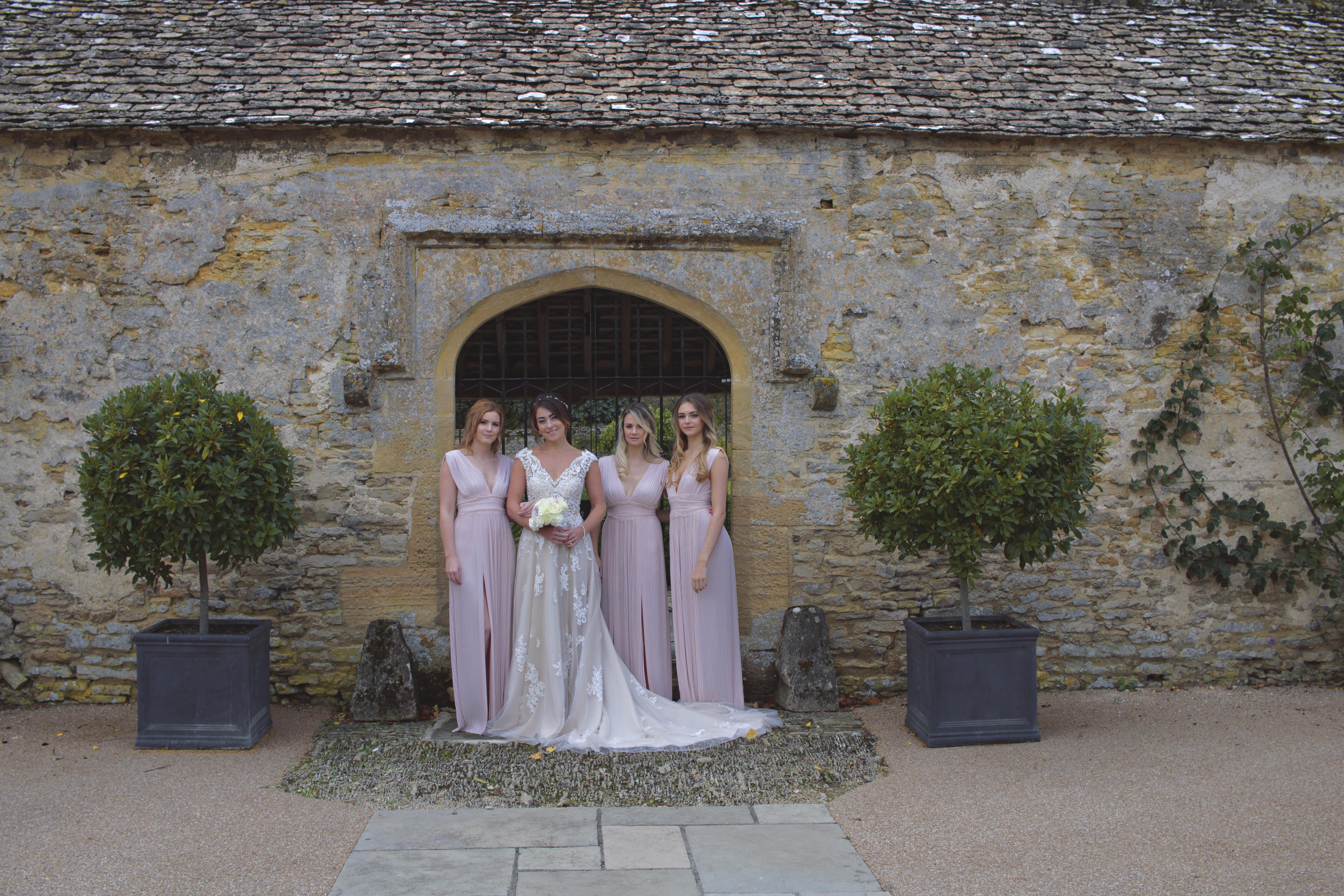 Relaxed Shots of Bride and Bridesmaids at Caswell House
