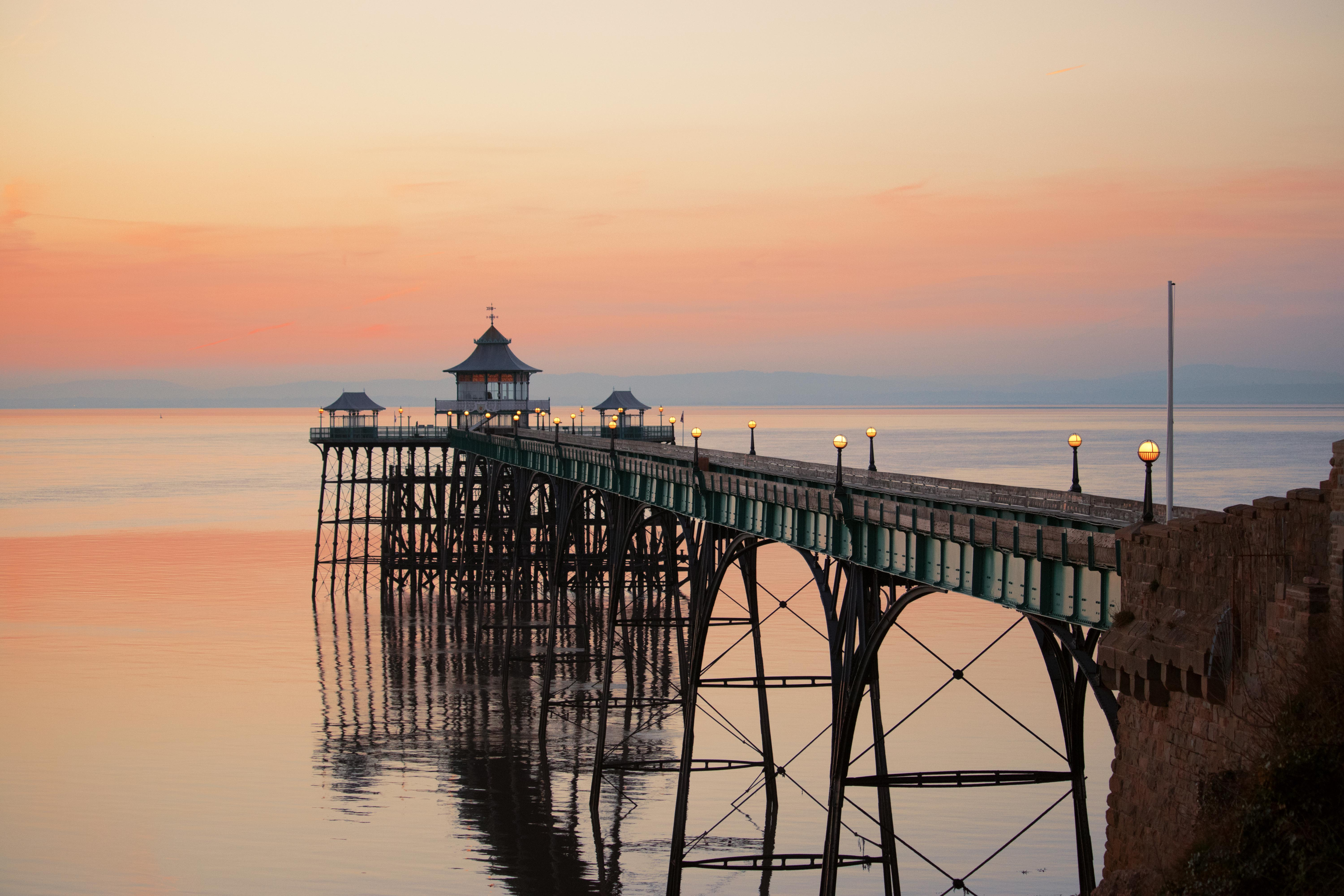 Landscape Photography Clevedon Pier At Sunset
