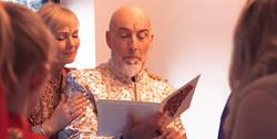 Reading a Wedding Anniversary Card
