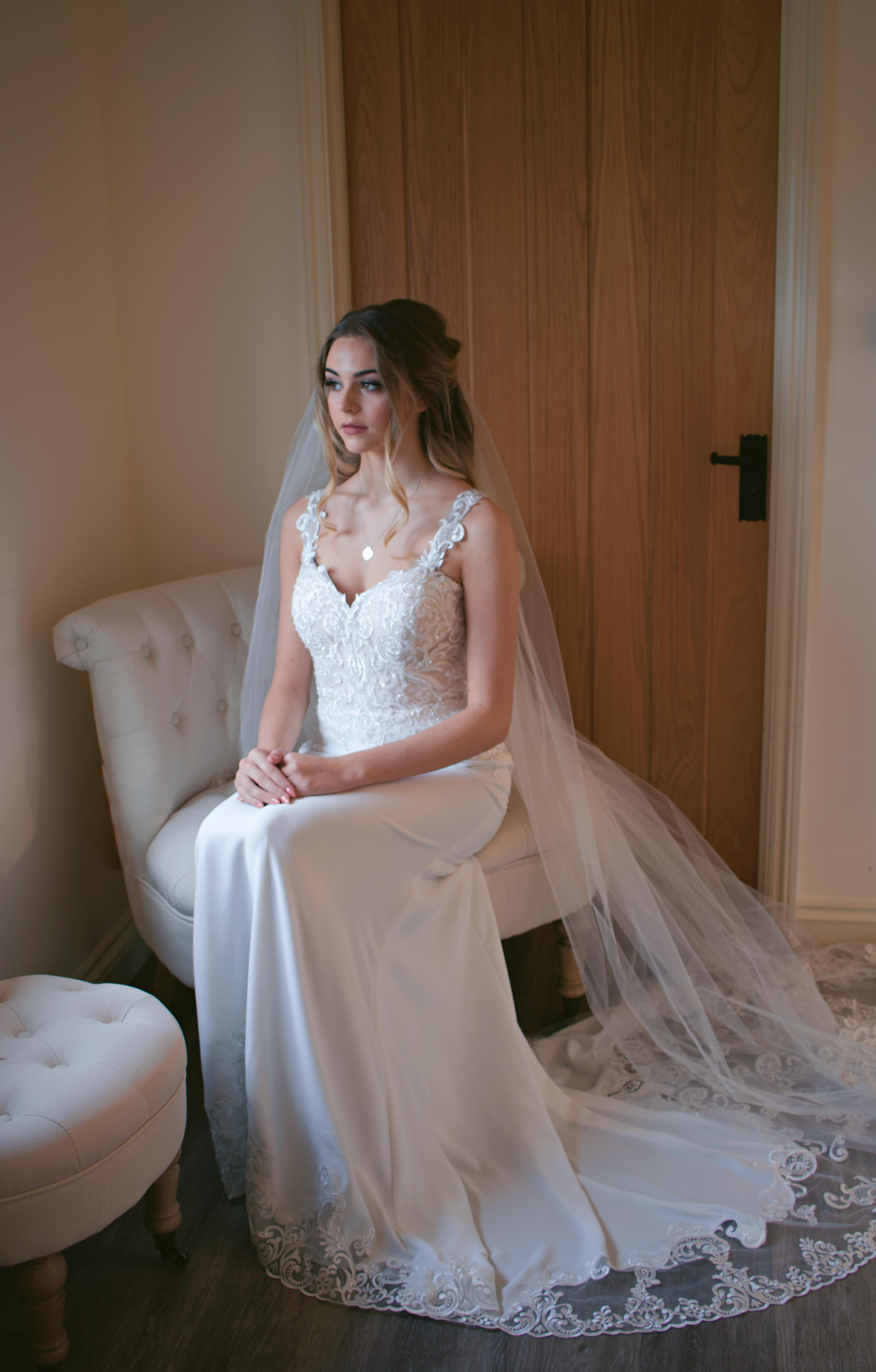 Relaxed Bridal Portrait Wedding Dress Photography
