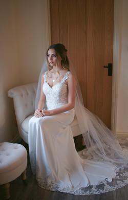 Relaxed Bridal Portrait Wedding Dress Photography