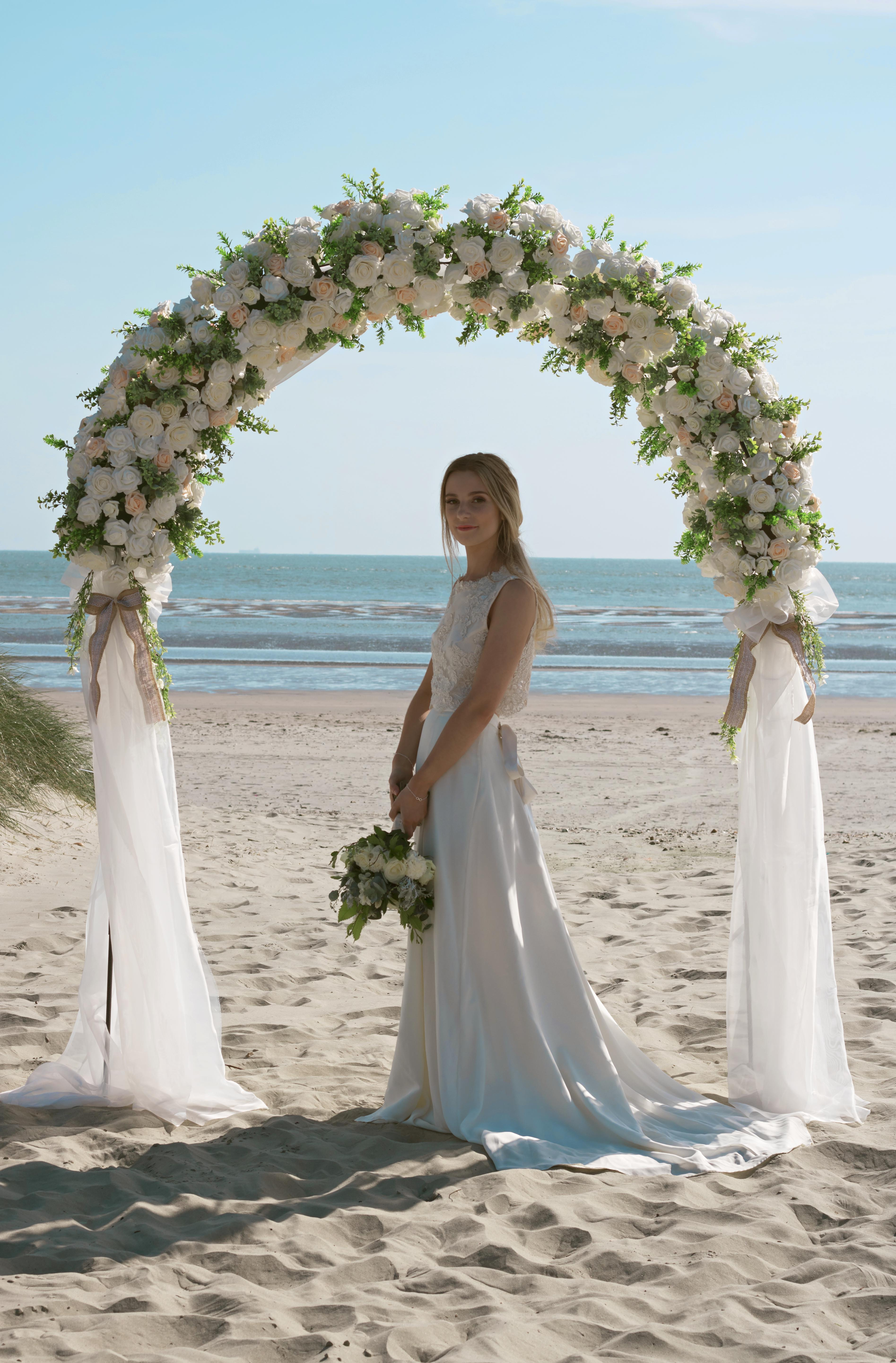 Documentary Bridal Beach Portraits