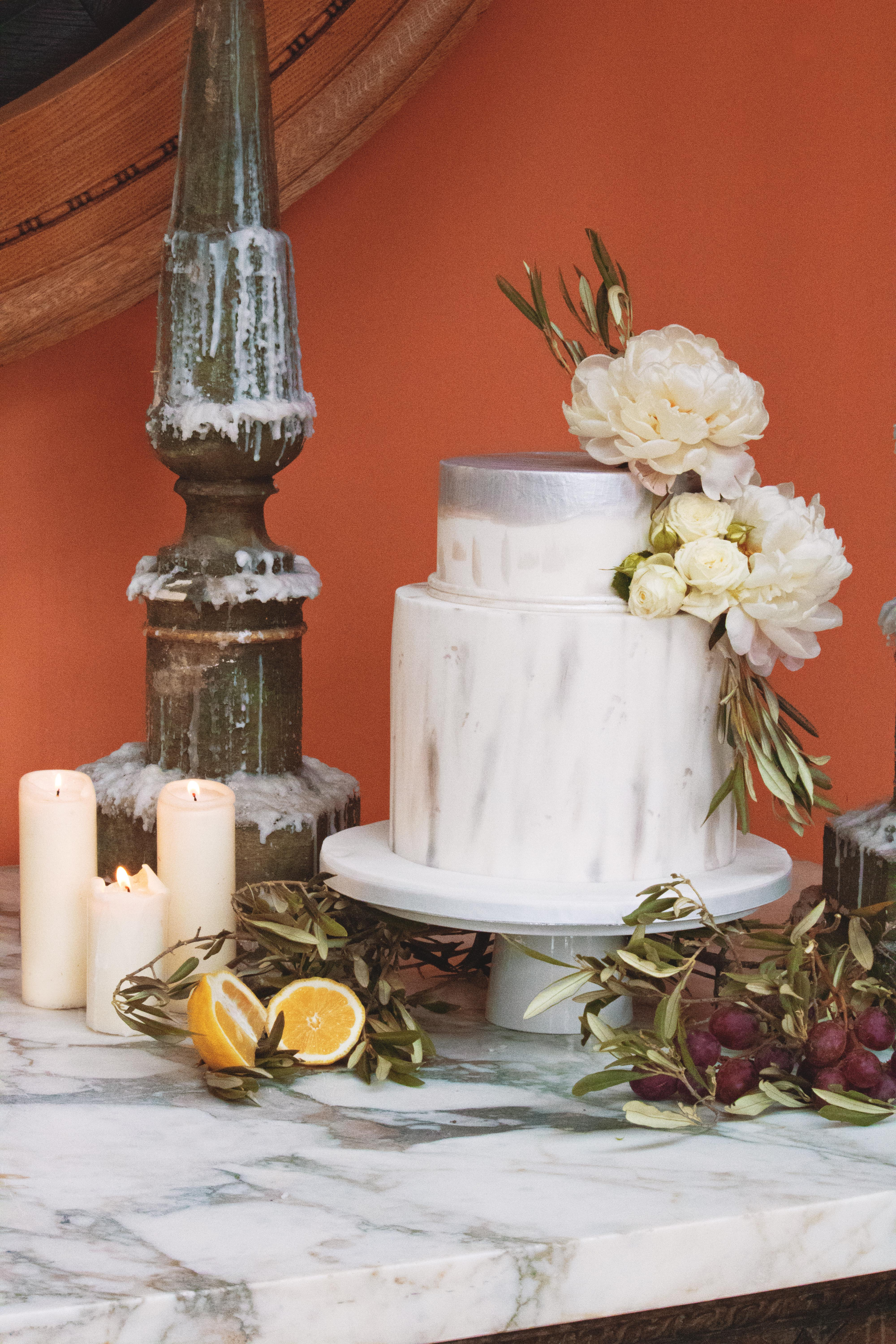 Tuscan Themed Wedding Cake